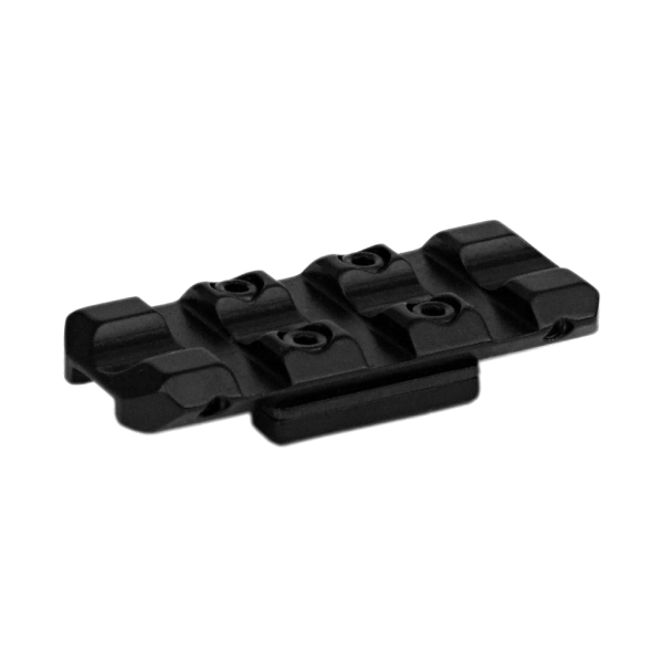 Picatinny Solid Steel Mounting Rail for Shotgun Ventilated Sighting Rib (L=50mm, B=4~8mm), H=1,3mm, BH=3,8mm